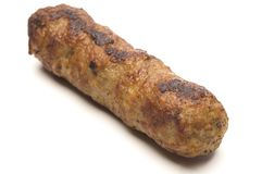 One pork sausage Stock Photos