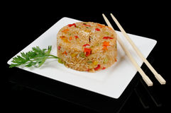 One portion of rice Royalty Free Stock Photo