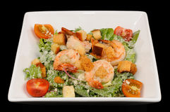 One portion of salad with shrimps Royalty Free Stock Image