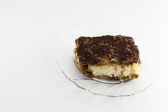 One portion tiramisu Stock Photos