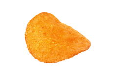One potato chips isolated on a white background Stock Image