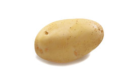 One potato on white Stock Photos