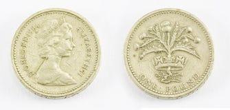One pound. On white background Stock Image