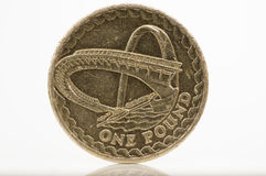 One pound coin. One pound - back - british coin Stock Photography