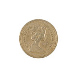 One Pound Coin Stock Image