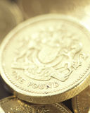 One pound coin. A group of one pound coins Royalty Free Stock Photos