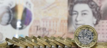One Pound Coin - British Currency Royalty Free Stock Image