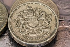 One pound coin stock images