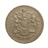 One Pound coin Royalty Free Stock Images