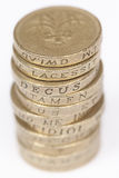 One Pound Coins 1 Stock Images