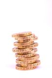 One Pound Coins Stock Photo