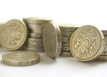 one pound coins Stock Image