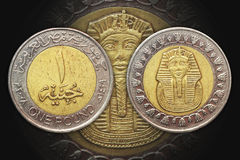 One Pound Egypt bi-metal coin Royalty Free Stock Photos