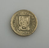 One pound of the Falkland or Malvinas Islands. Stock Photo