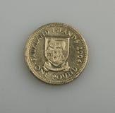One pound of the Falkland or Malvinas Islands. Stock Photo