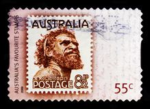 One Pound Jimmy, Favourite Stamps serie, circa 2009. MOSCOW, RUSSIA - OCTOBER 3, 2017: A stamp printed in Australia shows One Pound Jimmy, Favourite Stamps serie Stock Photo