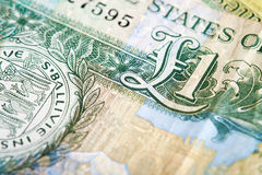 A one pound note. From the Island of Jersey on a white background Royalty Free Stock Images