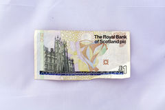 One pound note (sterling currency) Royalty Free Stock Photography