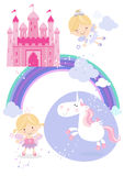 Fairytale set icons/illustrations Stock Images