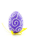 One purple easter egg Stock Images