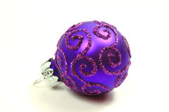 One purple glass ball Royalty Free Stock Photo