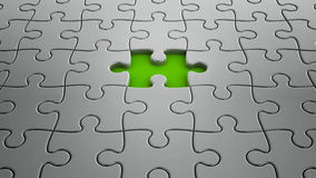 One puzzle piece missing Stock Photography