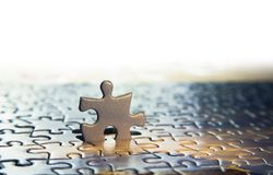 Free One Puzzle Piece Stand Out From The Crowd. Royalty Free Stock Images - 123034909