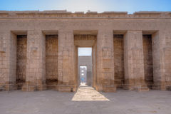 One of the pylons of Medinet Habu temple in Luxor Stock Photo