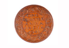 One quarter anna coin Stock Photos