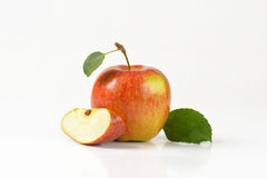 One and quarter apples Royalty Free Stock Photography