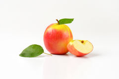 One and quarter apples Stock Images
