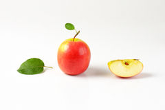 One and quarter apples Stock Image