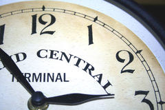 One quarter clock face. Almost three o'clock,nearly quiting time Royalty Free Stock Image