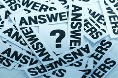 One question and many answers Stock Image