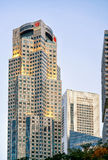 One Raffles Place and UOB Plaza in Singapore skyline Royalty Free Stock Photography