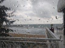 One rainy day at work royalty free stock photos