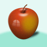 One red apple (fruit) Royalty Free Stock Images