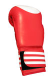 One red boxing glove, isolated Stock Photo