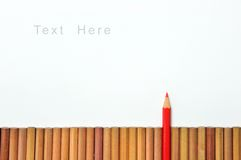 One red color pencil Royalty Free Stock Photography