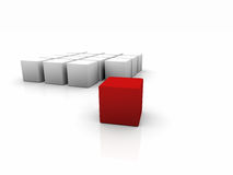 One red cube Royalty Free Stock Images
