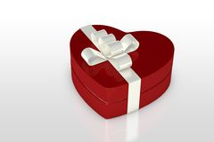 One red gift box Royalty Free Stock Image