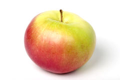 One red and green apple, with clipping path Stock Image