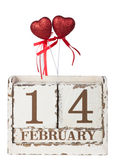One red hearts with calendar Royalty Free Stock Photos