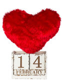 One red hearts with calendar Royalty Free Stock Photography