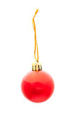 One red isolated xmas ball Stock Image