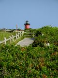 One Red Lighthouse. Lighthouse on cape cod, massachusetts stock images