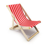 One red lounger Royalty Free Stock Photography