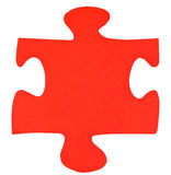One red paper piece of jigsaw puzzle Royalty Free Stock Photo