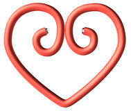 One red paperclip heart Royalty Free Stock Photography