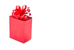 One Red Present Stock Photo
